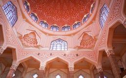 Masjid Putra lub; główny meczet Putrajaya, Malezja Obraz Royalty Free