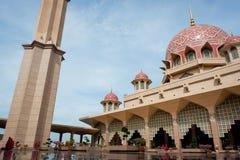 Masjid Putra lub; główny meczet Putrajaya, Malezja Zdjęcie Stock