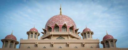 Masjid Putra lub; główny meczet Putrajaya, Malezja Obrazy Stock