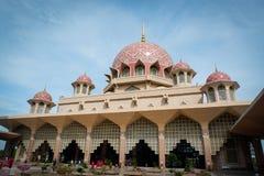Masjid Putra lub; główny meczet Putrajaya, Malezja Fotografia Royalty Free