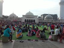 Masjid Raya万隆 免版税库存照片
