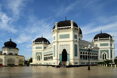 Masjid Raya, Medan. The Great Mosque (Masjid Raya) in Medan, Indonesia Royalty Free Stock Photography