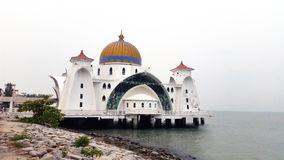 Masjid Selat Melaka, το μουσουλμανικό τέμενος Melaka στενών Στοκ Φωτογραφία