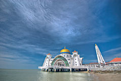 Masjid Selat Melaka@ a mesquita dos passos, Melaka Imagem de Stock Royalty Free
