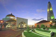 Masjid Selat Melaka (mezquita de los estrechos) Foto de archivo libre de regalías