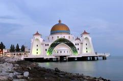 Masjid Selat Melaka , The Straits Mosque Melaka Stock Images
