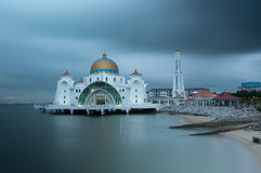 Masjid selat Mosque in Malacca Stock Images