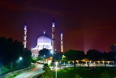 Masjid shah alam / shah alam mosque stock photo