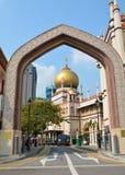 Masjid Sultan Mosque Arkivbild