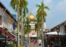 Masjid Sultan Mosque Royaltyfria Foton