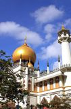 Masjid Sultan Mosque in Kampong Glam, Singapore. National monument of Singapore Masjid Sultan Mosque in Kampong Glam. On blue sky background Royalty Free Stock Photography