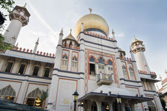 Masjid Sultan Mosque in Singapore. Historic Masjid Sultan Muslim Mosque in Singapore Arab Street royalty free stock image