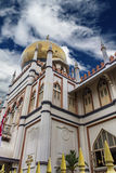 Masjid Sultan mosque in Singapore. Detail of the Masjid Sultan mosque in Singapore royalty free stock photography