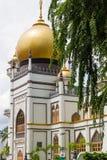 Masjid Sultan Mosque y árbol Imágenes de archivo libres de regalías