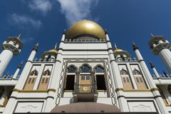 Masjid Sultan, Arab Street, Singapore. Masjid Sultan, preserved historical mosque at Arab Street, Singapore royalty free stock photo