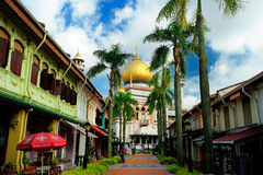 Masjid Sultan, Singapore. Masjid Sultan is located at Muscat Street and North Bridge Road within the Kampong Glam district of Rochor Planning Area in Singapore stock images