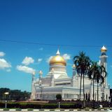 Masjid sultanomar ali saifudin Arkivbild
