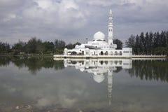 Masjid Tengku Tengah Zaharah in Kuala Terrengganu, Malaysia. The Tengku Tengah Zaharah Mosque or the Floating Mosque is the first real floating mosque in Royalty Free Stock Photo