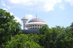 Masjid Universiti Putra Malaysia på Serdang, Selangor, Malaysia Arkivbilder