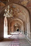 Masjid Wazir khan Interior. Interior Architecture of Masjid Wazir Khan, an old Mughal historical mosque for the worship of muslims Royalty Free Stock Photo