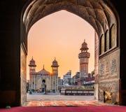 Masjid Wazir Khan Mosque Lahore Pakistan stock afbeeldingen