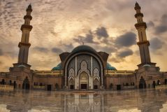 Masjid Wilayah Persekutuan Federal Mosque Kuala Lumpur Malaysia Royalty Free Stock Image