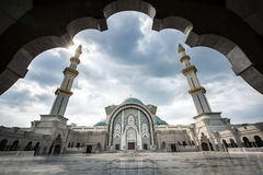 Masjid Wilayah Persekutuan in Kuala Lumpur, Maleisië Royalty-vrije Stock Fotografie