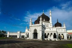 Masjid Zahir i den Alor Setar staden, Malaysia Arkivfoto
