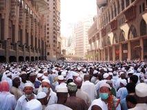 Masjidil Haram во время хаджа Стоковые Изображения