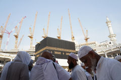Masjidil Haram under konstruktion Royaltyfri Fotografi
