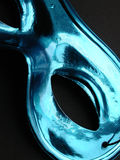 Mask. A metallic blue mask, detail Stock Photography