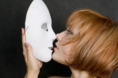 With mask Royalty Free Stock Photography