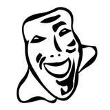 Mask. Black and White Drama Mask Royalty Free Stock Images