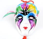 The mask. The wonderful Venetian masks on the white background Royalty Free Stock Photos