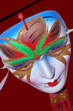 Mask. Colorful face mask of stage performer Stock Photo