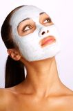 Mask. Cosmetic improving mask At the girl on the person Royalty Free Stock Image