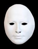 The mask. White mask on black background Stock Photo