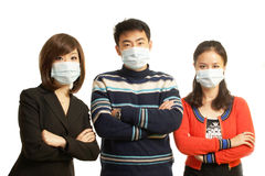 With mask Stock Photography
