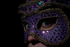 Mask. Low key - shot with nikon d100 using one light source Stock Image