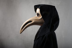 Mask. Woman disguised with venetian mask Royalty Free Stock Photos