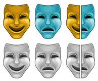 Mask. Theatrical mask isolated on white Royalty Free Stock Image