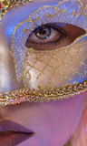Mask. Close up view of young woman wearing mask royalty free stock photo