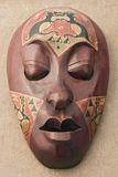 Mask. Close up of an african wooden mask Royalty Free Stock Photo