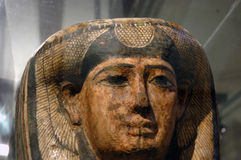 Mask. Ancient ornamental mask founded in Egypt tomb Royalty Free Stock Photography