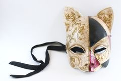 The mask. Sexy mask on white background Royalty Free Stock Photo