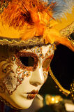 Mask. A venice carnival mask in golden colors Royalty Free Stock Images