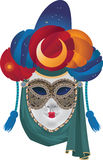 Mask. Venetian carnival mask with a turban and veil Stock Image