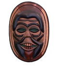 Mask. Wood Indonesian Mask in a museum Royalty Free Stock Image