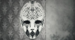 Mask. Beautiful Harlequin Venetian mask in black and white