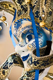 Mask. A string of Venice mask with white background Royalty Free Stock Photo